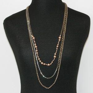 J. Crew 3 Necklace Strands - Pearls, Rhinestones